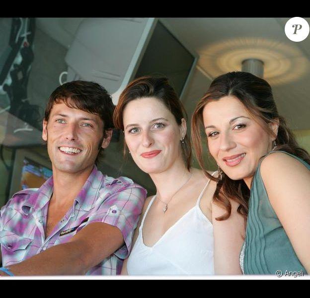 Hélène Médigue en 2005 aux côtés de Laurent Kérusoré et d'Anne Decis