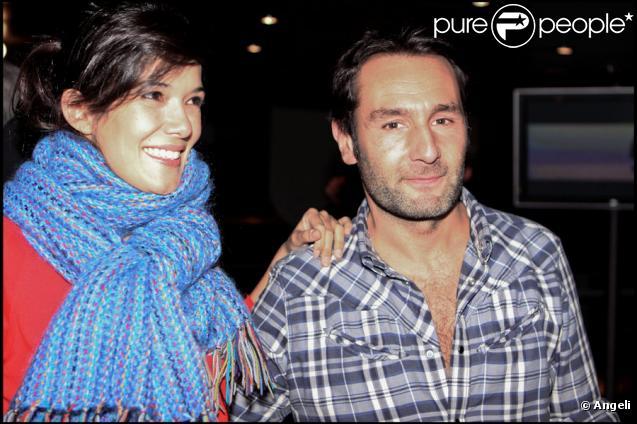 Mélanie Doutey et Gilles Lellouche présentent leur nouveau film,  Une petite zone de turbulence , au cinéma UGC Ciné Cité Bercy, à Paris, le 11 janvier 2010.
