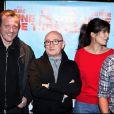 Cyril Descours, Alfred Lot, Michel Blanc, Mélanie Doutey et Gilles Lellouche présentent leur nouveau film,  Une petite zone de turbulence , au cinéma UGC Ciné Cité Bercy, à Paris, le 11 janvier 2010.