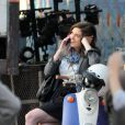 Anne Hathaway sur le tournage de Valentine's Day