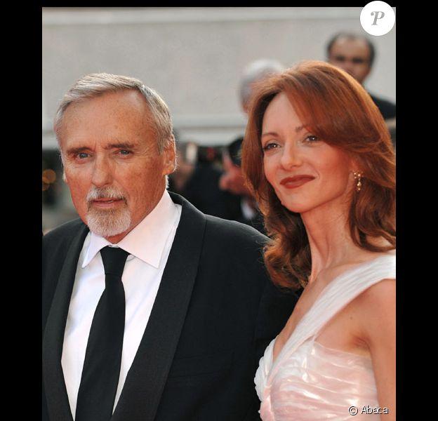 Dennis Hopper et sa cinquième femme Victoria Duffy, au festival de Cannes, en mai 2008
