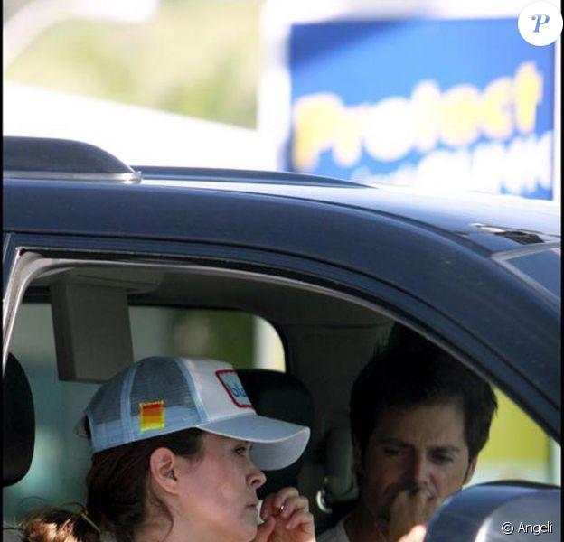 David Charvet et Brooke Burke, pris dans un embouteillage à Los Angeles, le 10 janvier.