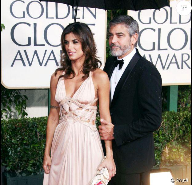 George Clooney et Elisabetta Canalis lors de la cérémonie des Golden Globes à Los Angeles le 17 janvier 2010