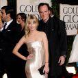 Mélanie Laurent et Quentin Tarantino, lors des Golden Globe Awards qui se sont tenus au Beverly Hills Hotel de Los Angeles, le 17 janvier 2010.