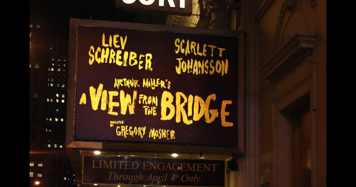 a view from the bridge by arthur miller 2 essay Free essay: a view from the bridge by arthur miller although the theme of betrayal and controversy is touched upon throughout the play, these subjects are.