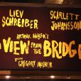 A View From The Bridge d'Arthur Miller au Cort Theatre à Broadway avec Scarlett Johansson et Liev Schreiber