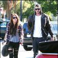 Miley Cyrus et son boyfriend Liam Hemsworth à Los Angeles, le 23 janvier 2010