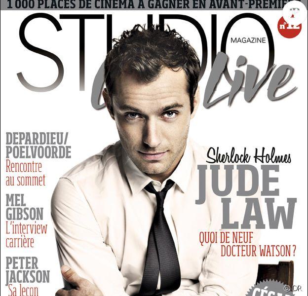Jude Law en couverture de Studio Ciné Live