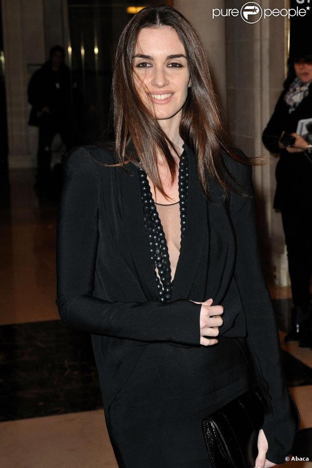 Paz Vega er son époux Orson Salazar au défilé Givenchy le 26 janvier 2010 à Paris