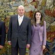 Letizia d'Espagne à Madrid avec le roi Juan Carlos a reçu le roi Abdullah II de Jordanie. Le 27 janvier 2010.