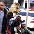 Heidi Klum et sa fille Lou Sulola sortent du club de karaté des enfants à Los Angeles