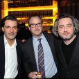 Christophe Barratier, et Nicolas Rey à la soirée Nosylis le 4 février 2010