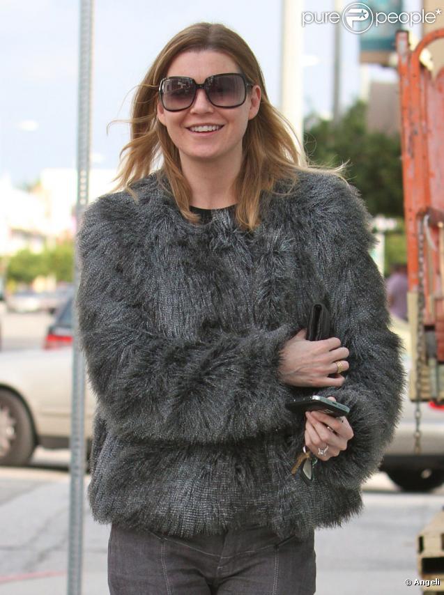 Ellen Pompeo s'est rendue au restaurant Ago à Los Angeles le 4 février 2010
