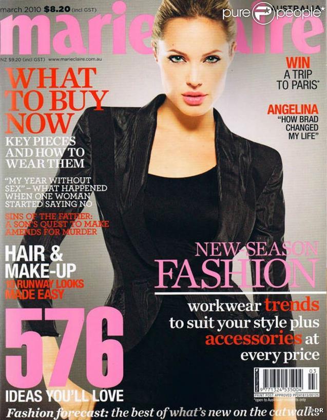 Angelina Jolie en couverture du Marie Claire Australie