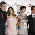 Daniel Day-Lewis, Penélope Cruz, Marion Cotillard et Rob Marshall à la première de Nine, à Paris. 18/02/2010