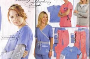 Katherine Heigl pose pour une ligne de vêtements médicaux...