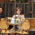 Angelina Jolie sur le tournage de The Tourist à Paris le 23 février 2010