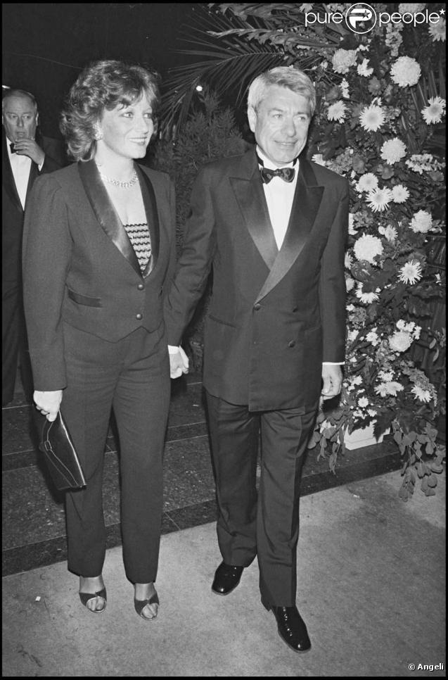 Roger Gicquel et son épouse à la cérémonie des 7 d'Or en 1985