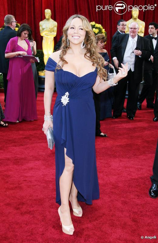 Mariah Carey lors de la cérémonie des Oscar, le 7 mars 2010 à Los Angeles