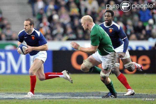 Saison terminée pour Frédéric Michalak, victime d'une rupture des ligaments du genou gauche le 6 mars 2010