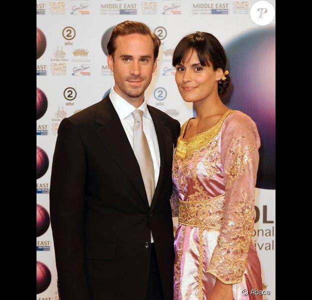Joseph Fiennes et sa femme Maria Dolores Dieguez en octobre 2008