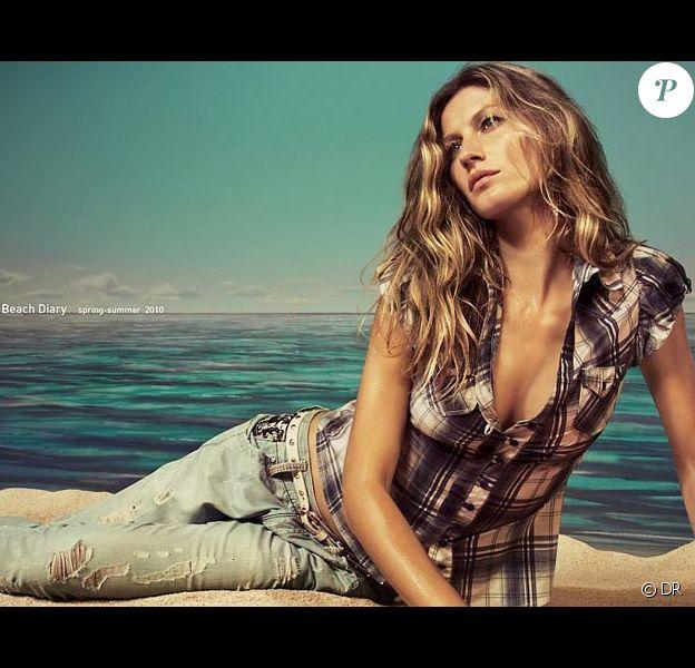 Gisele Bundchen pour la campagne printemps 2010 de la marque Colcci