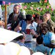 Heidi Klum et Seal renouvelent leurs voeux le 10 mai 2009 à Malibu sur le thème White Trash !
