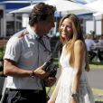 Jessica Michibata, compagne de Jenson Button dans le paddock du grand prix d'Australie
