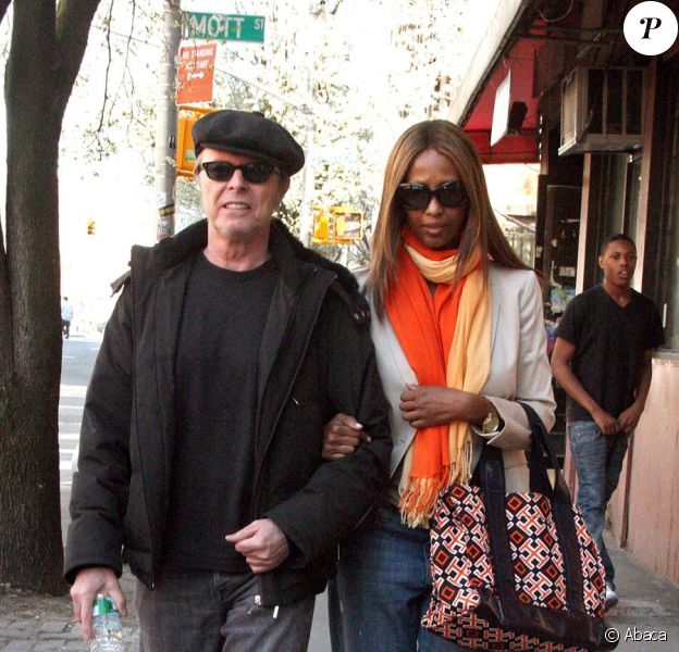 David et Iman Bowie à New York le 2 avril 2010