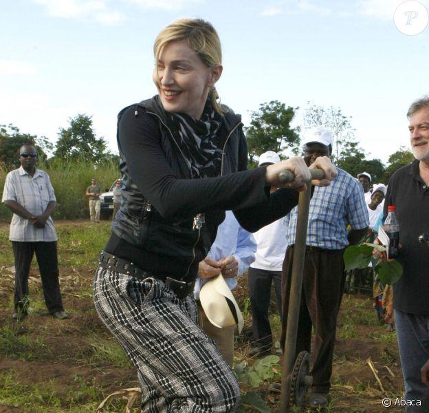 Madonna au Malawi, le 5 avril 2010
