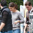 Katie Holmes et Channing Tatum sur le tournage du film Son of no one à New York le 5 avril 2010