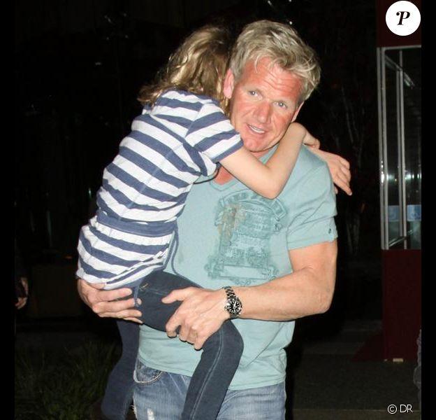 Gordon Ramsay en famille (7avril 2010, Californie)