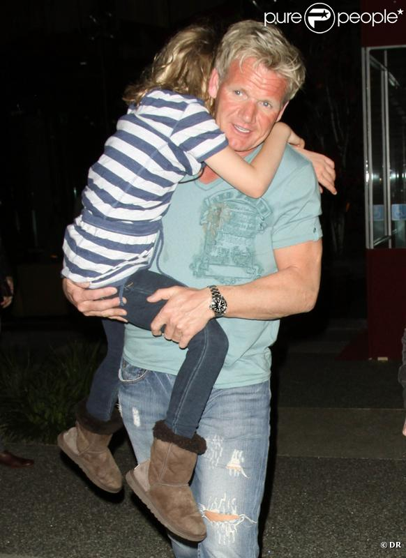 Gordon Ramsay en famille (7avril 2010, Californie)
