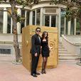 Benicio del Toro et Caroline Correo à Barcelone lors du tournage de la publicité Magnum