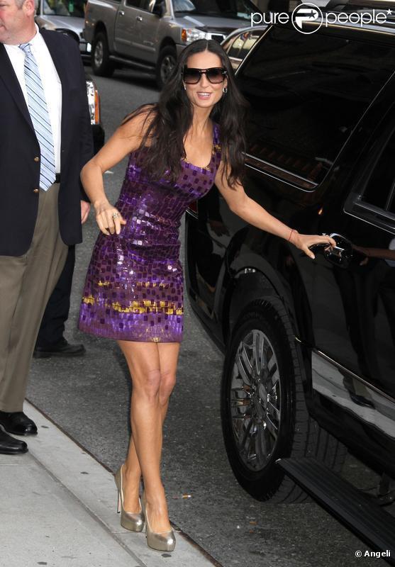 Demi Moore chez avid Letterman le 20 avril 2010