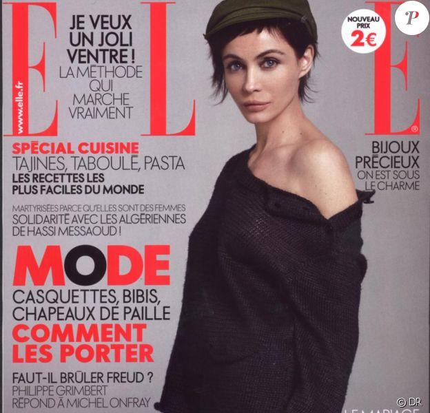 Emmanuelle Béart en couverture du magazine ELLE