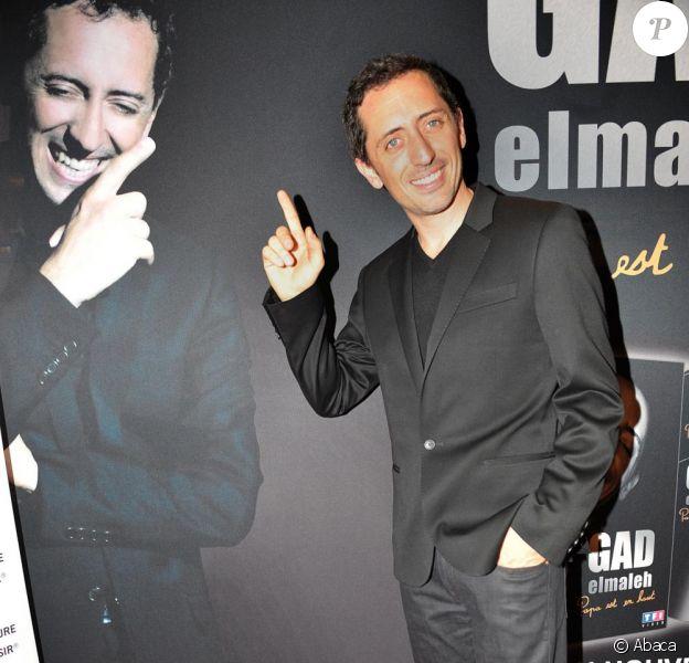 Gad Elmaleh se produira une dernière fois au Palais des Sports de Paris, ce soir. Une représentation qui sera diffusée en direct sur TF1.