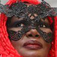 Grace Jones adore les masques en particulier ceux en dentelles !