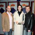 Fabien Remblier , Eglantine Eméyé et Olivier Kauffer à l'avant-première du film Une nuit au cirque (4 mai 2010, Cirque d'hiver à Paris)