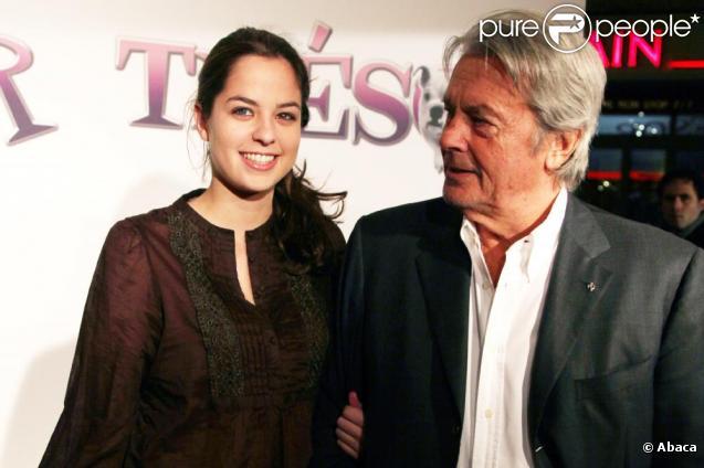 Alain Delon et sa fille Anouchka Delon