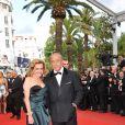 Fawaz Gruosi et Caroline Gruosi-Scheufele lors de l'ouverture du festival de Cannes le 12 mai 2010