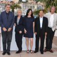 Claire Denis, présidente du jury Un Certain Regard, avec les jurés Serge Toubiana,  Helena Lindblad, Kim Dong-Ho et  Patrick Ferla  lors du festival de Cannes le 13 mai 2010