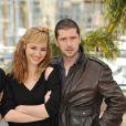 Louise Bourgoin et Melvl Poupaud lors du photocall de L'Autre Monde. A Cannes, le 16 mai 2010.