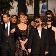 Louise Bourgion, Melvil Poupaud et Gilles Marchand au 63e festival de Cannes, à l'occasion de la projection du film L'Autre monde.