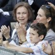 """Pendant la finale du tournoi de Madrid, opposant, le 16 mai 2010, Nadal à Federer, Elena d'Espagne et son ex-époux Jaime de Marichalar ont """"partagé"""" leurs enfants Felipe et Victoria !"""