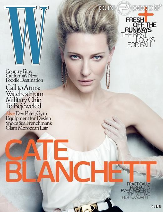 L'actrice australienne Cate Blanchett en couverture de  W Magazine