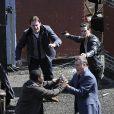 Ray Liotta et Channing Tatum sur le tournage de Son of No One le 4 mai 2010 à New York