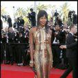 Naomi Campbell sur le tapis rouge du Festival de Cannes