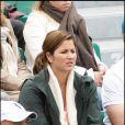 Mirka Vavrinec à Roland-Garros, le 30 mai 2010. Elle est allée soutenir son mari Roger Federer !