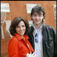 Elisabeth Bourgine et son fils Jules, à Roland-Garros, le 31 mai 2010.